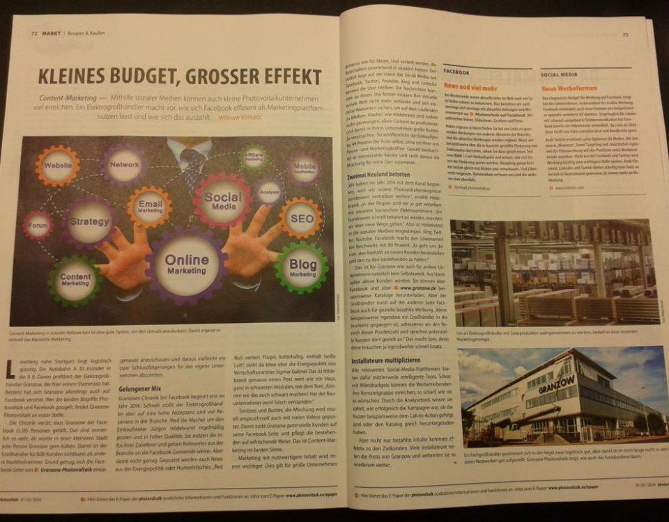 Photovoltaik Magazin Ausgabe Februar 2016