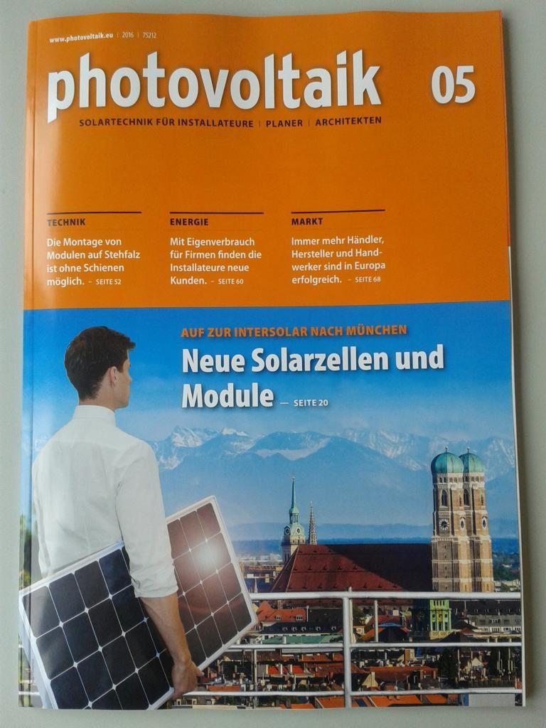 Fachzeitschrift Photovoltaik Mai 2016