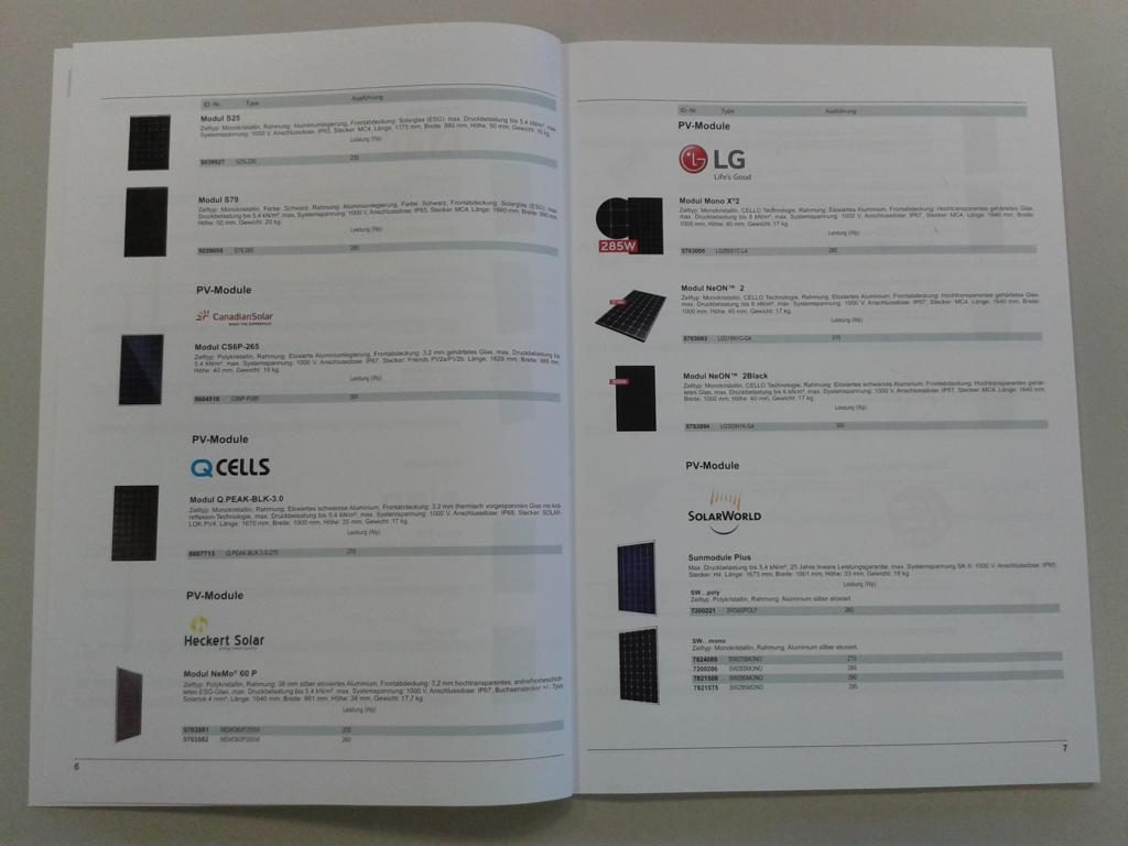 Granzow Photovoltaik Katalog Module