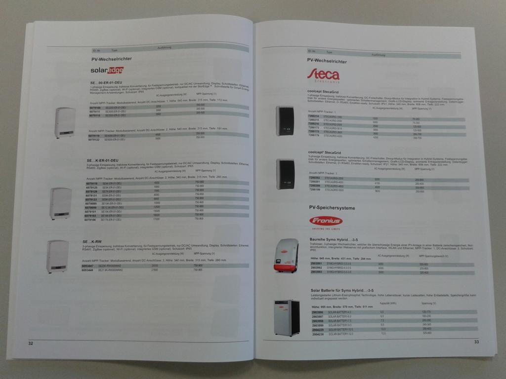 Granzow Photovoltaik Katalog Speichersysteme