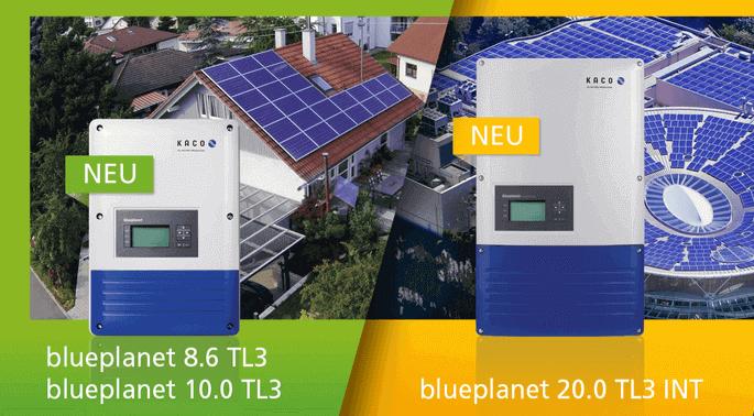 Kaco Wechselrichter blueplanet 8.6 TL3, blueplanet 10.0 TL3 und blueplanet 20.0 TL3 INT